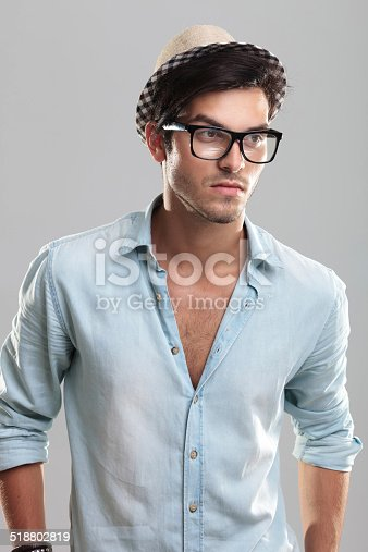 istock Young man wearing glasses 518802819