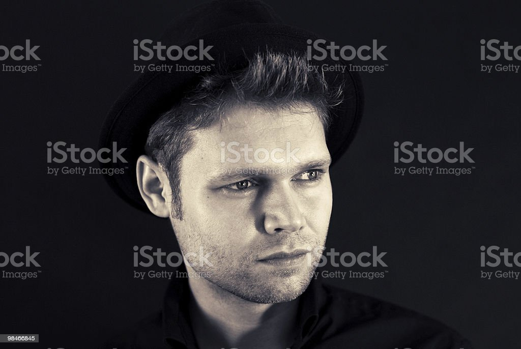 Young man wearing hat royalty-free stock photo