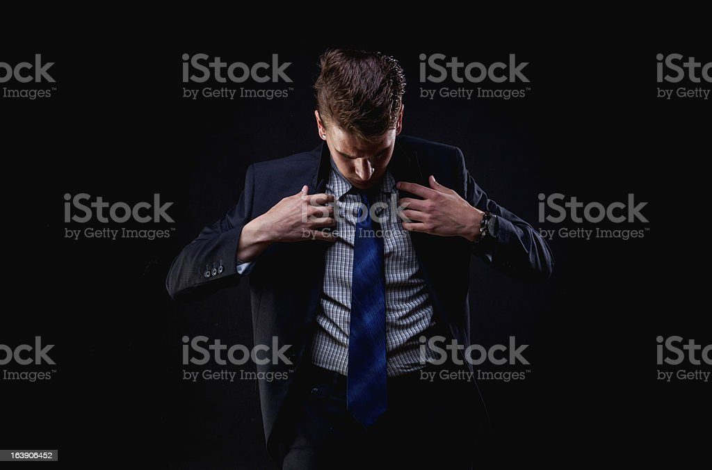 Young Man Wearing Suit royalty-free stock photo