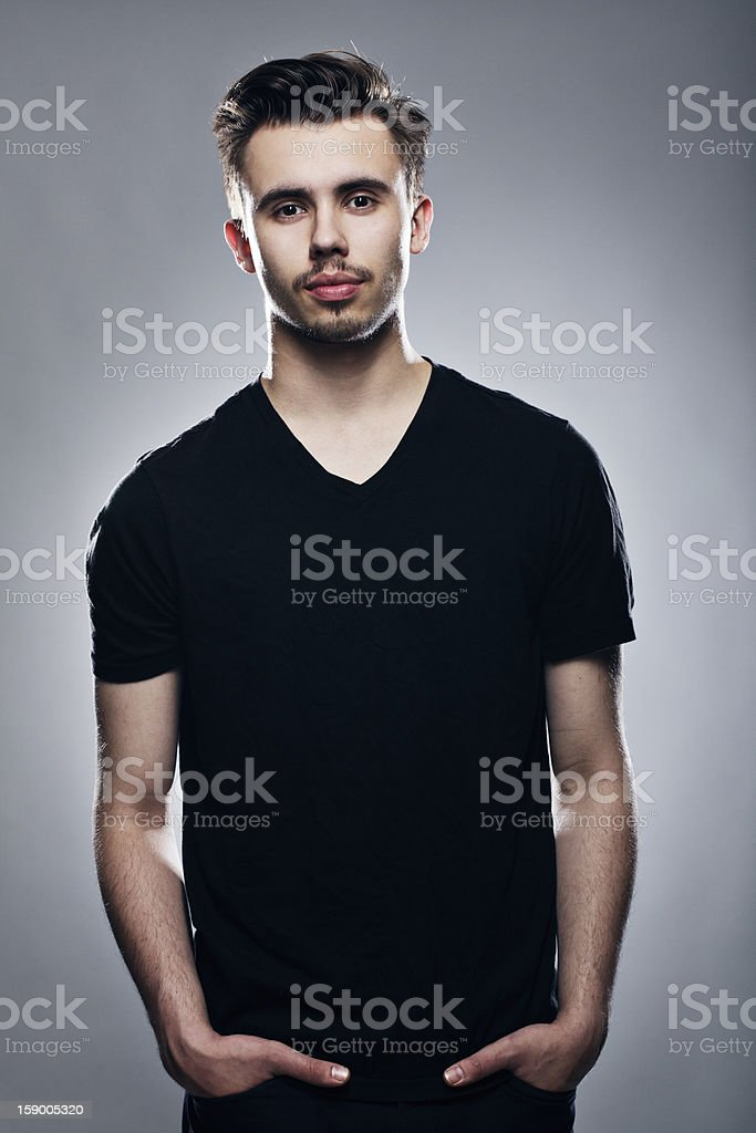Young man with a tie royalty-free stock photo