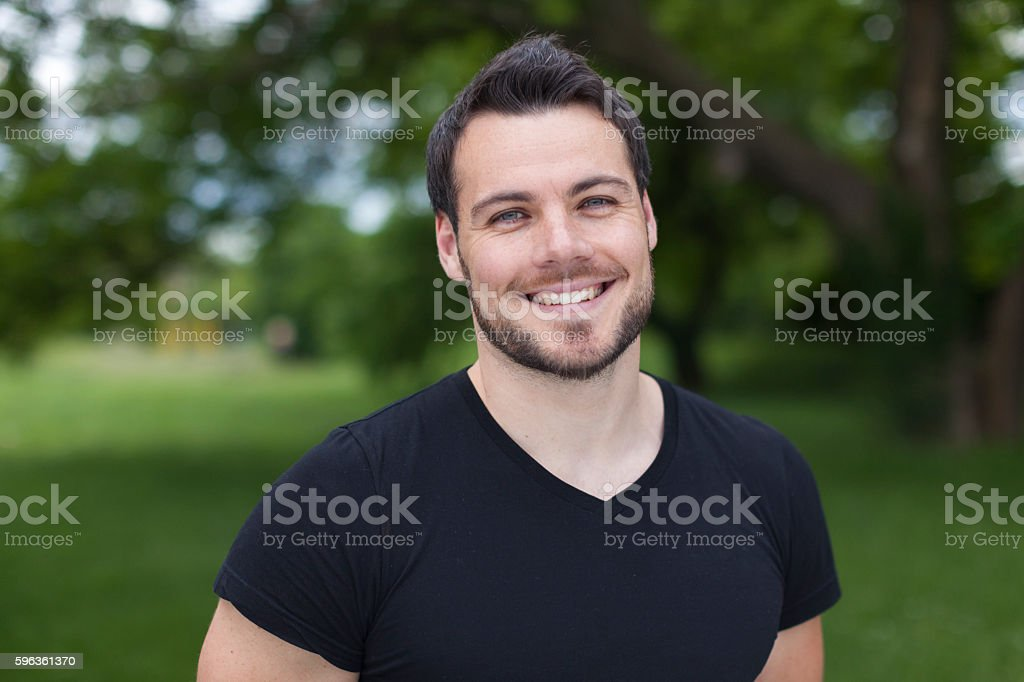 Young Man With a Toothy Smile royalty-free stock photo