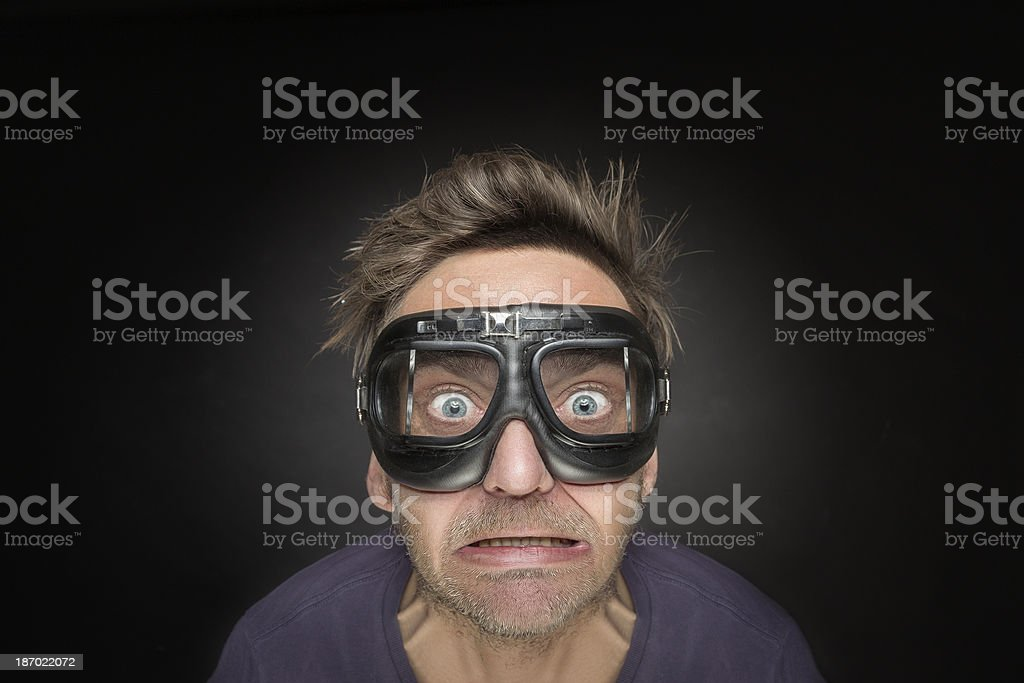 Young man with aviator glasses royalty-free stock photo