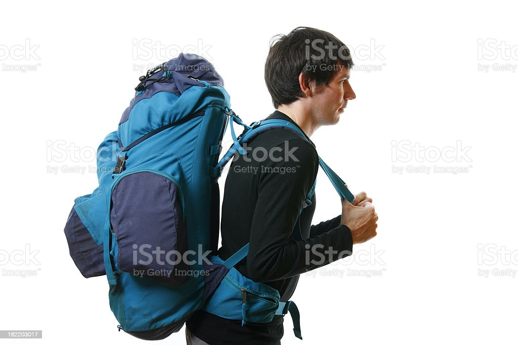 Young man with backpack royalty-free stock photo