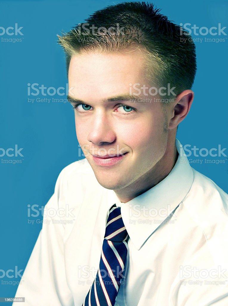Young man with blue eyes royalty-free stock photo
