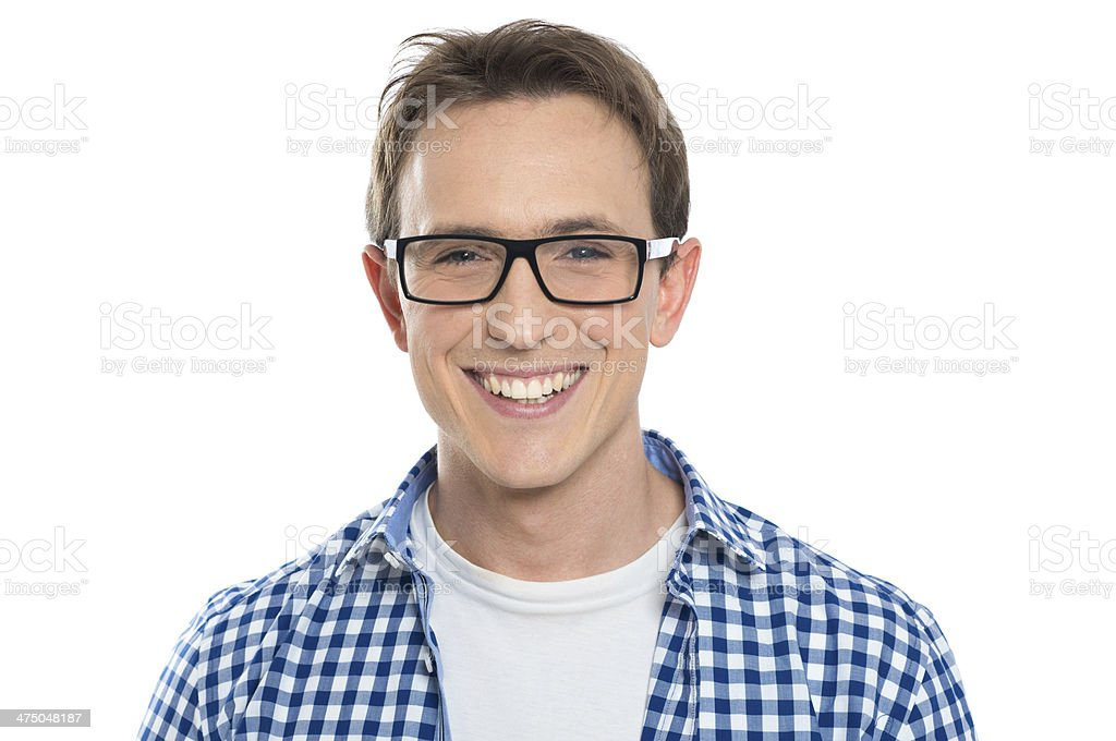 Young Man With Eyeglasses stock photo