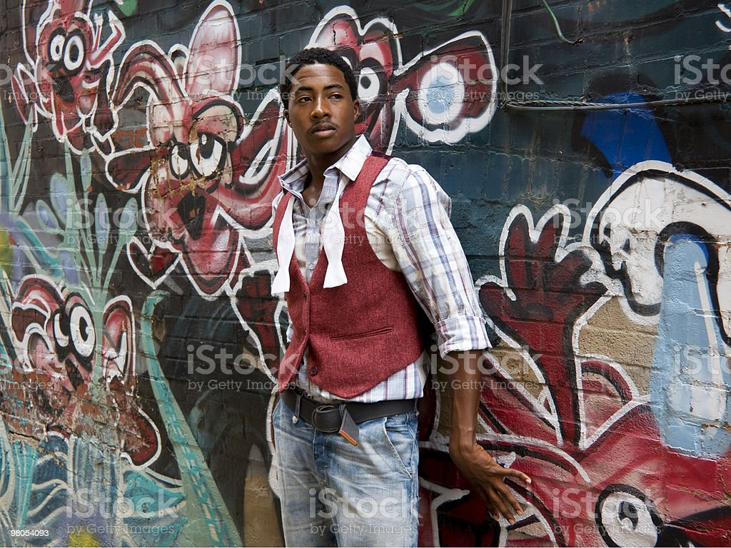 Young Man With Graffitti royalty-free stock photo