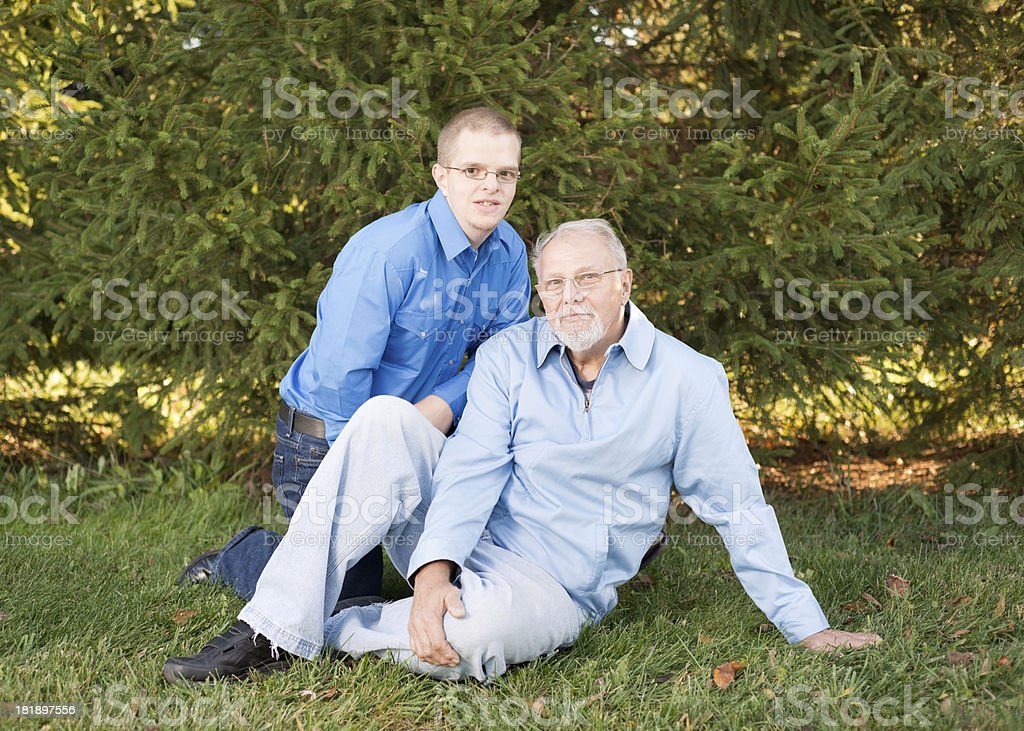 Young Man with Grandfather royalty-free stock photo