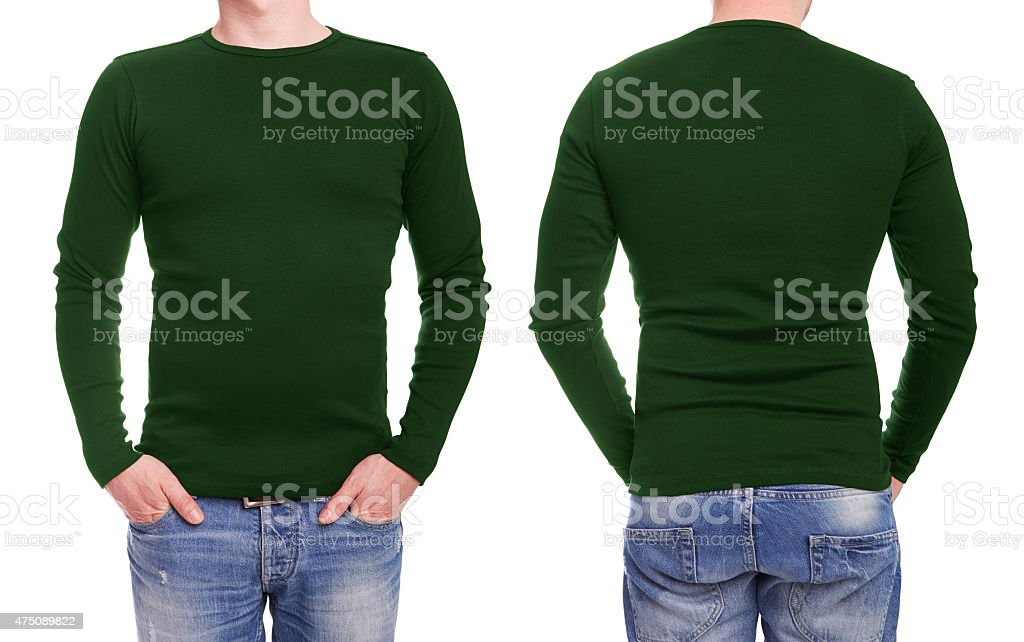Young man with green t shirt stock photo