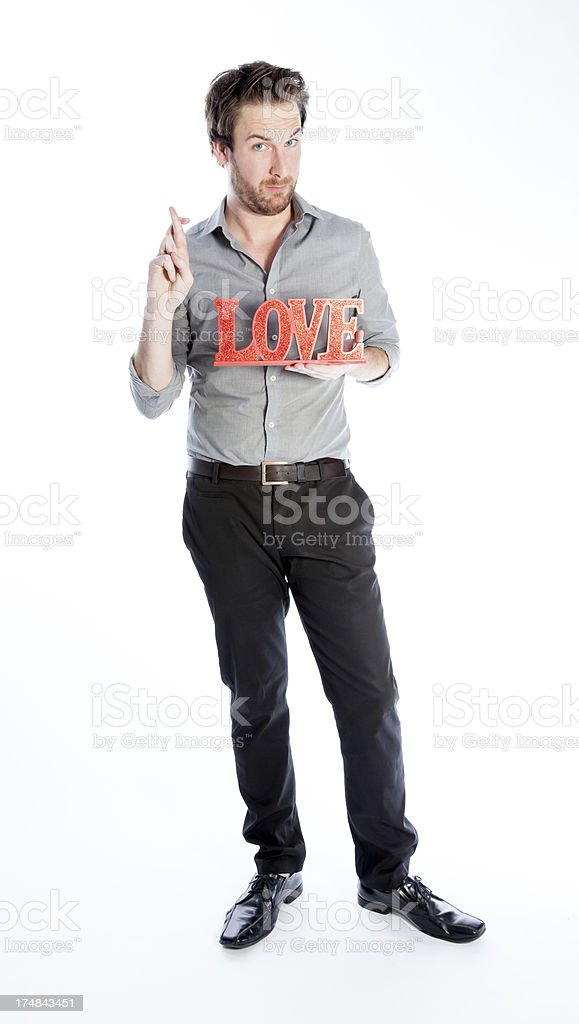 Young man with grey shirt isolated on a white background royalty-free stock photo