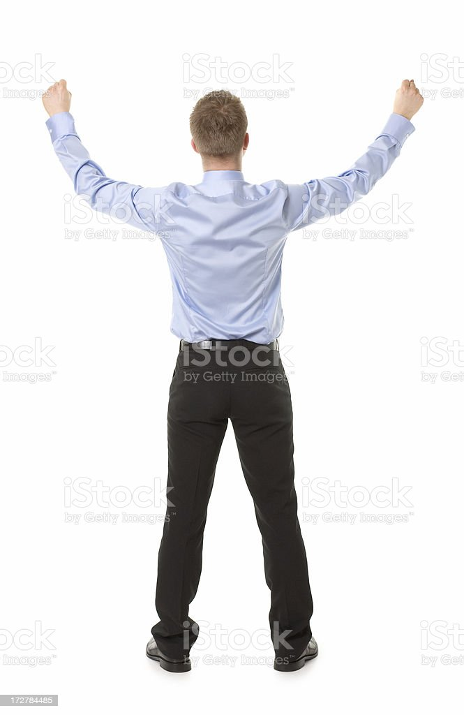 young man with hands up royalty-free stock photo