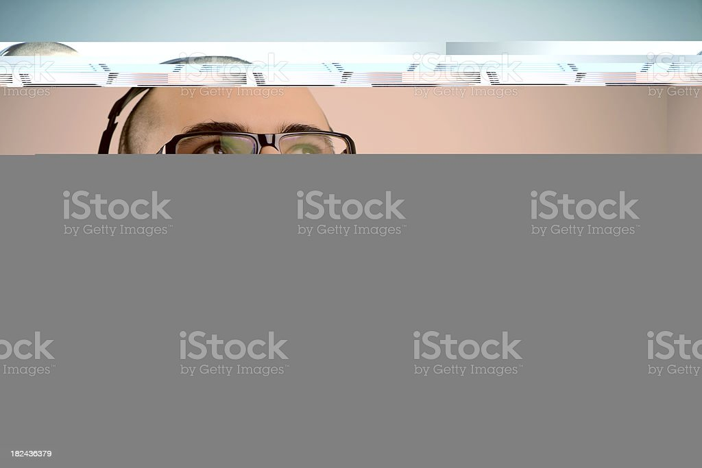 Young man with headset royalty-free stock photo