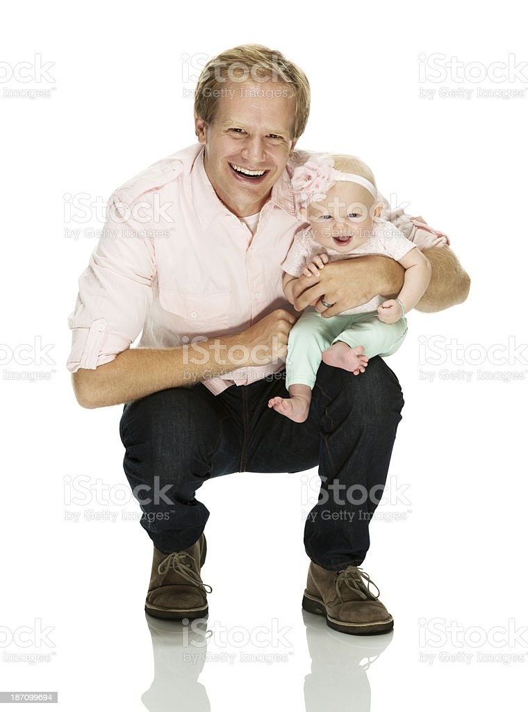 Young man with his child royalty-free stock photo