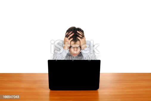 929420656 istock photo Young Man With Laptop 166547043