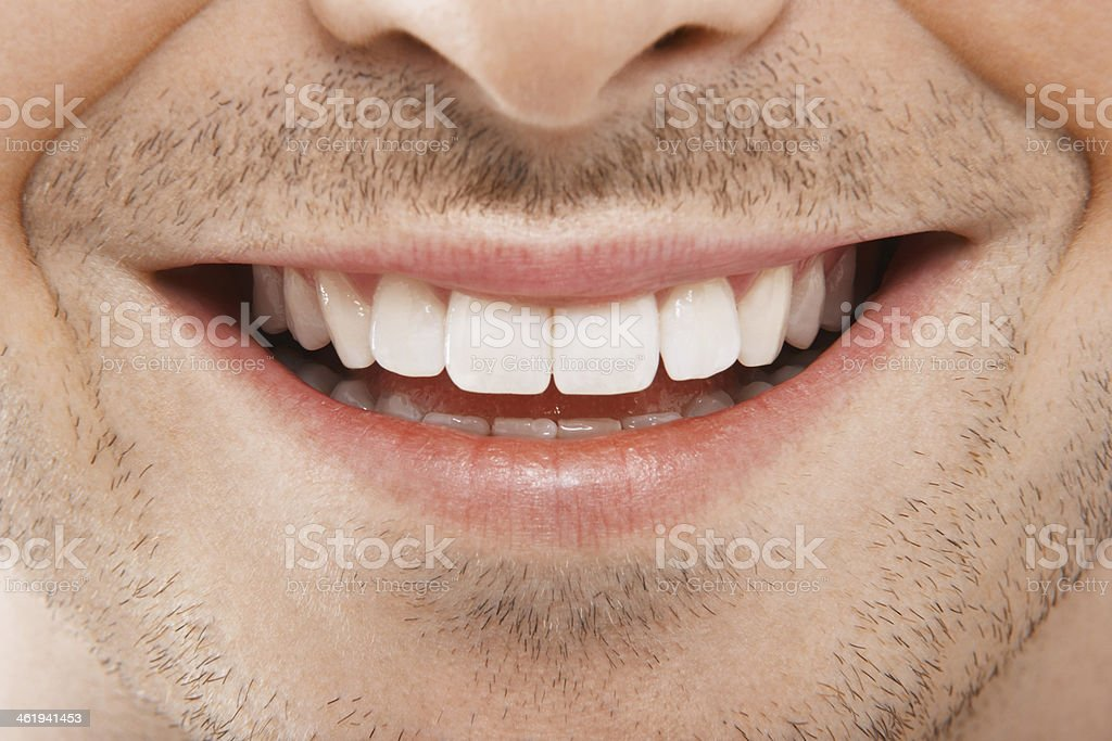 Young Man With Perfect White Teeth stock photo