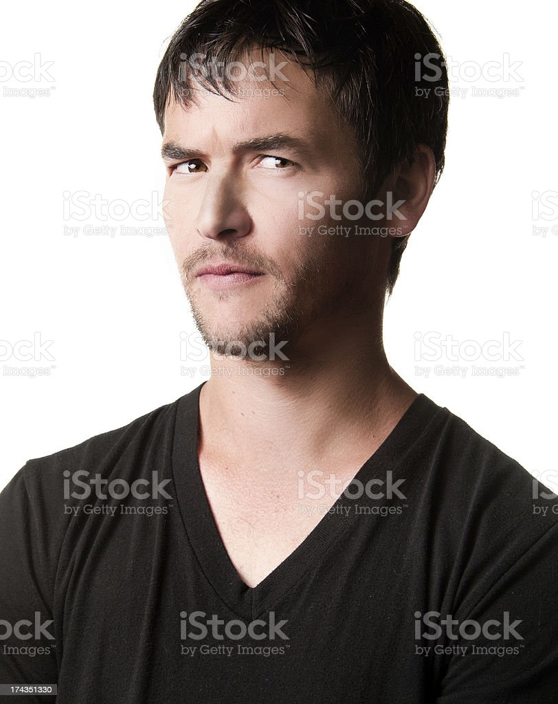 Young Man With Questioning Expression of Suspicion royalty-free stock photo