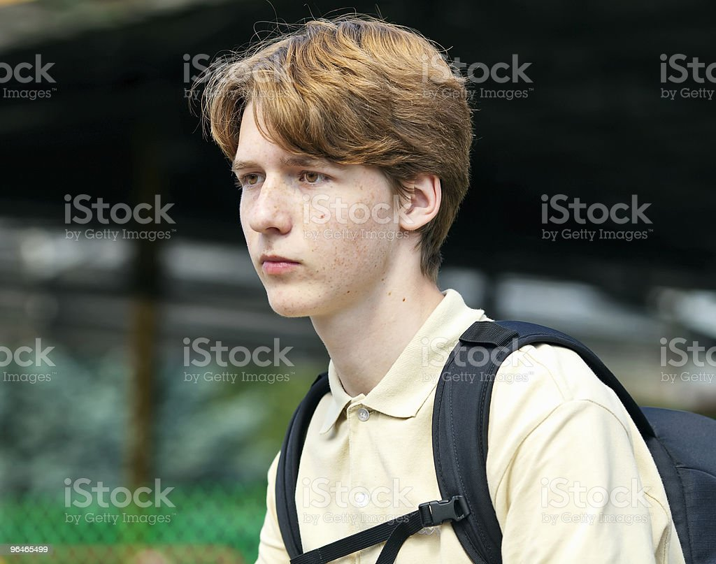 Young man with red hair royalty-free stock photo
