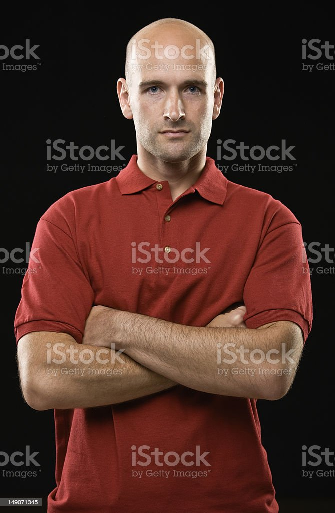Young Man with Red Shirt royalty-free stock photo