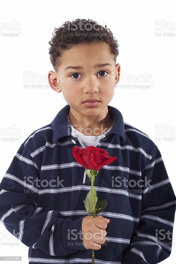 Young man with rose royalty-free stock photo
