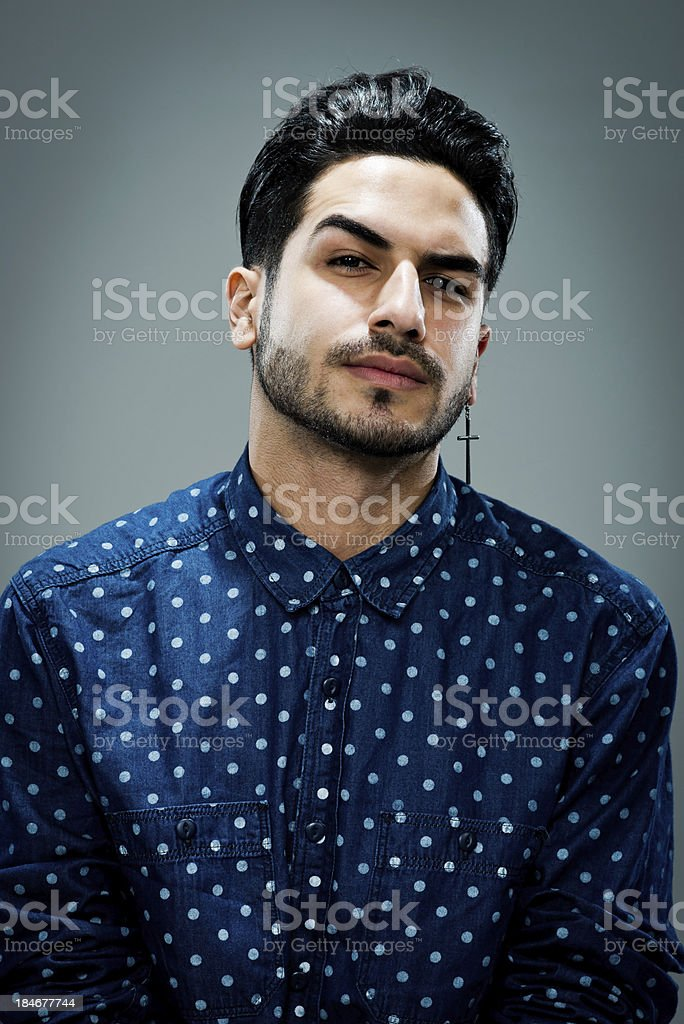 Young Man with Serious Expression royalty-free stock photo