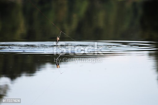 istock Young man with tent while fishing 917227626