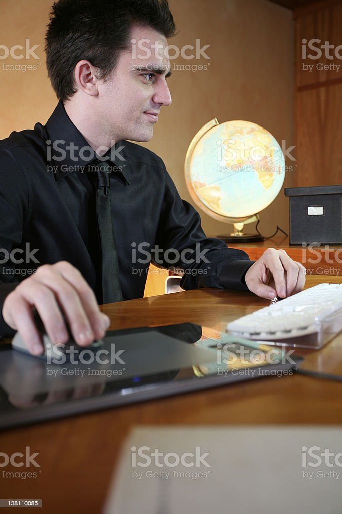 Young man working on office royalty-free stock photo