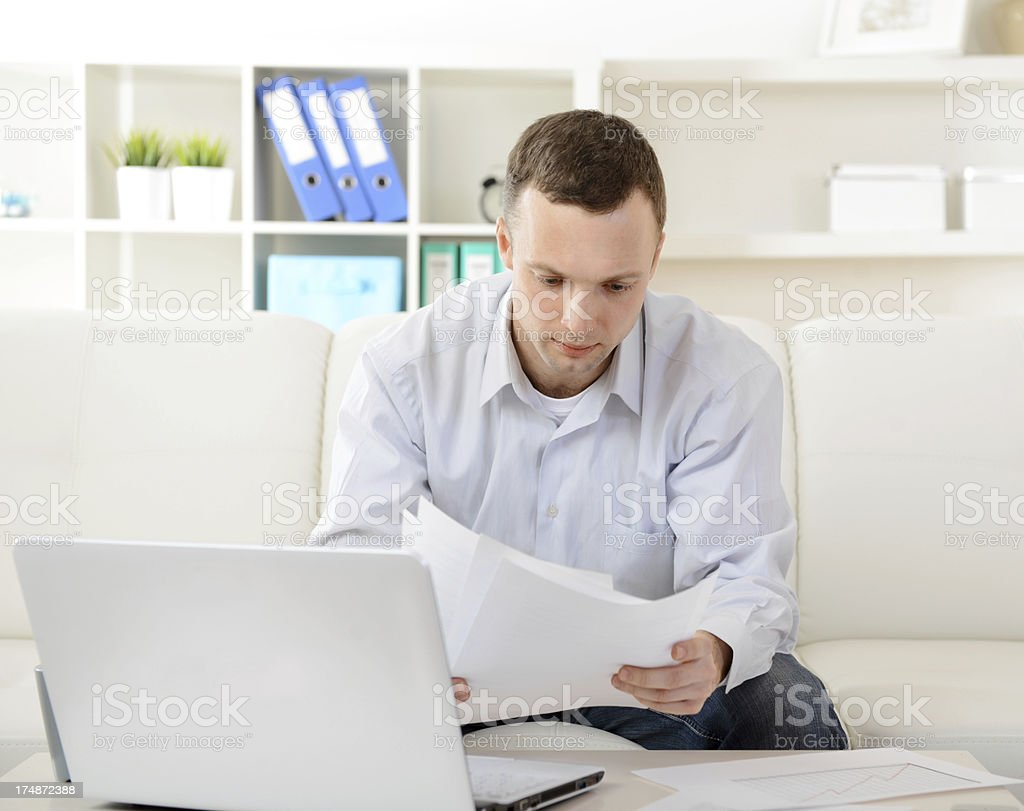 young man working royalty-free stock photo