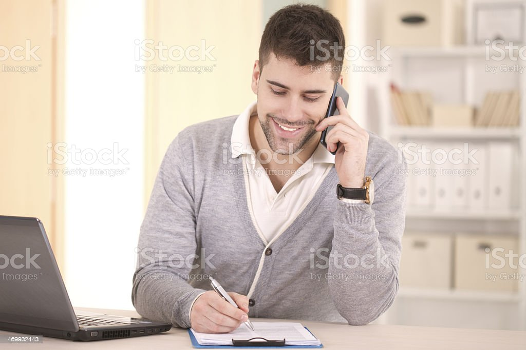 Young man working. royalty-free stock photo