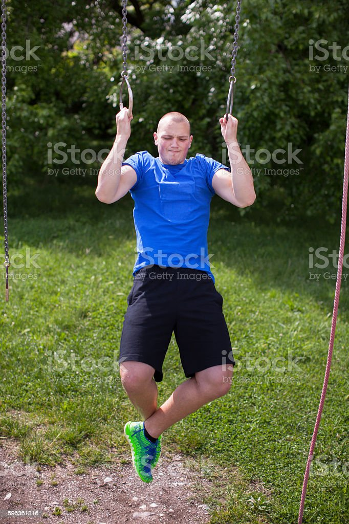 Young Man Workout Outdoors royalty-free stock photo