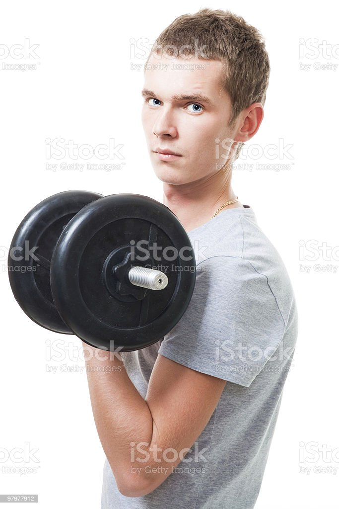 Young man workout royalty-free stock photo