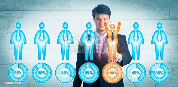 641422198istockphoto Young Manager Choosing Only Candidate With Helmet 1158069368