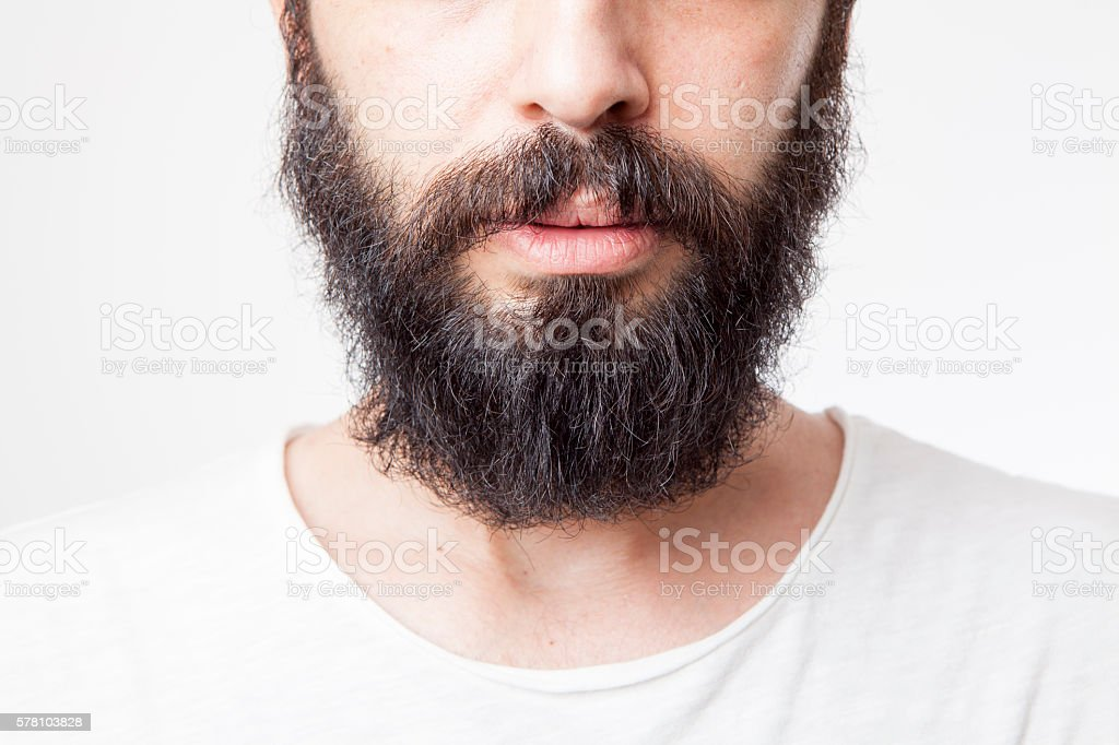Young man's long beard - foto de stock