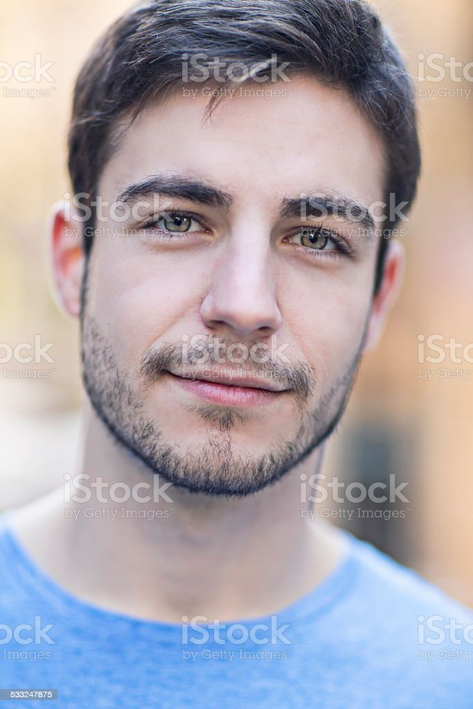 Young man's portrait stock photo