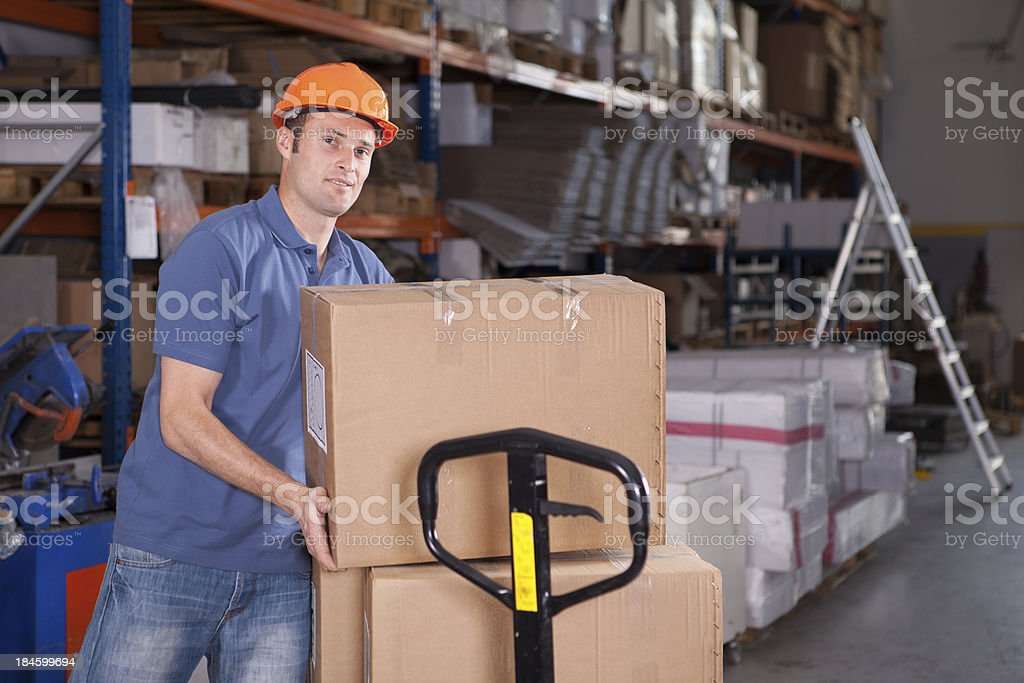 Young Manual Worker royalty-free stock photo