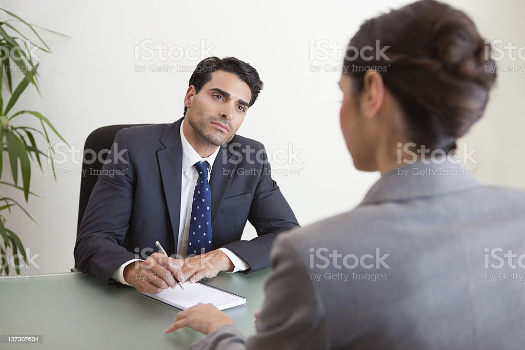 Young marketers having a brainstorming royalty-free stock photo