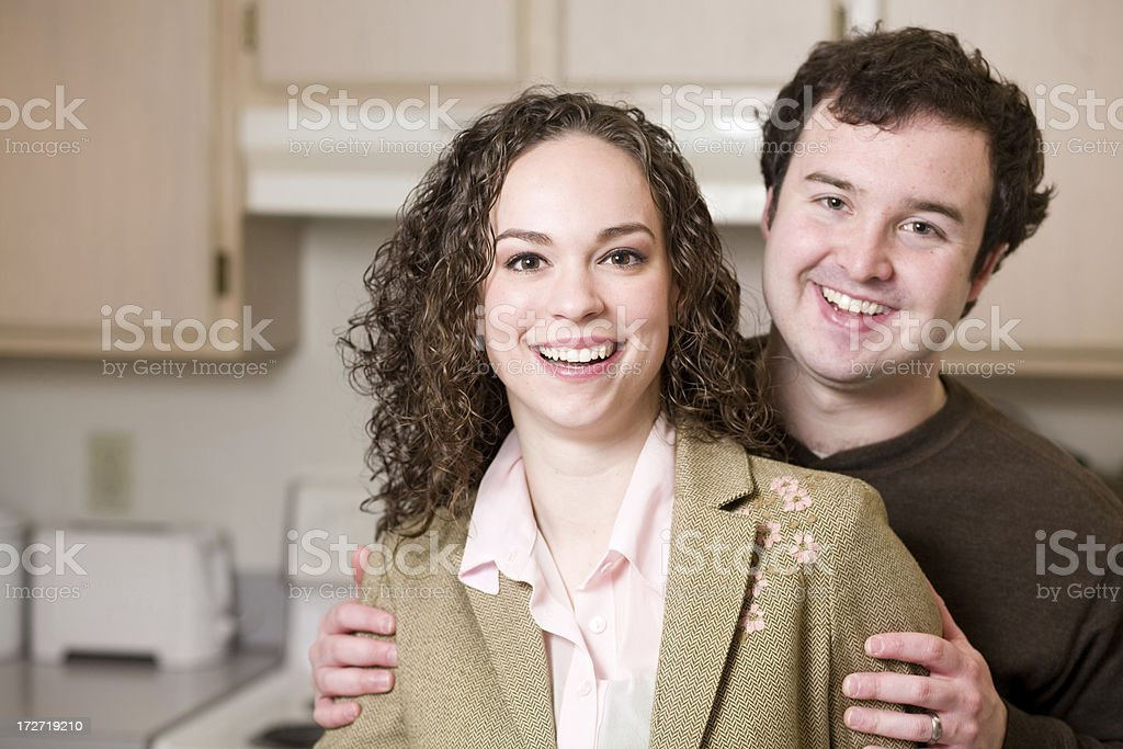 young married couple royalty-free stock photo