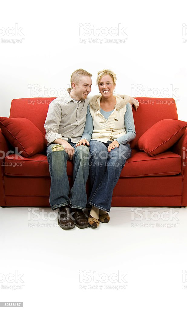 young married couple scene royalty-free stock photo
