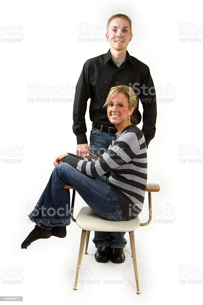 Joven pareja escena casado foto de stock libre de derechos