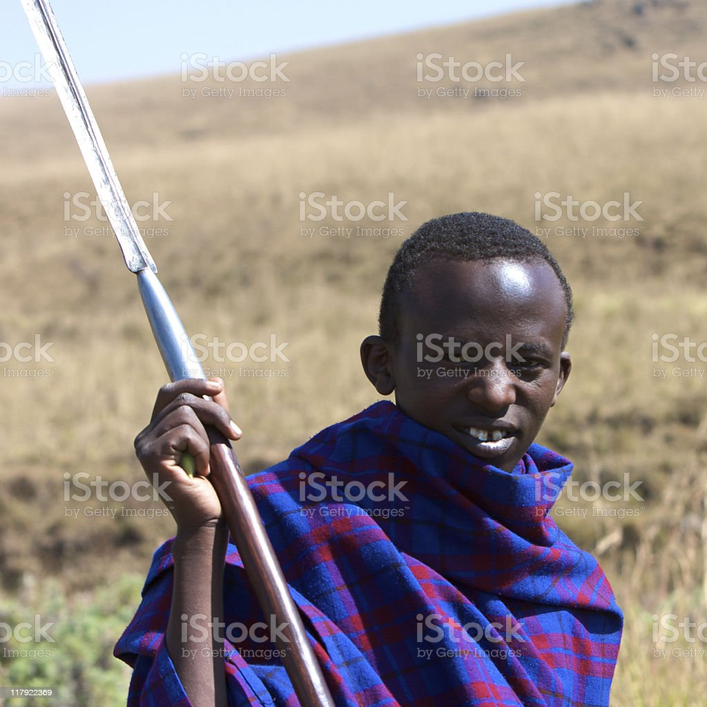 Young masai warrior portrait royalty-free stock photo