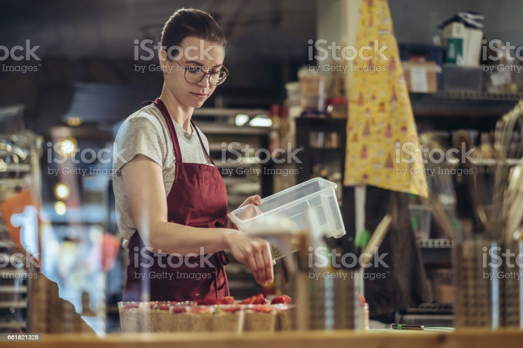 Young Master Baker stock photo