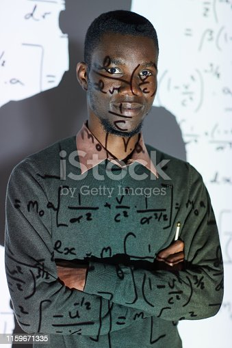 istock Young math teacher in conference room 1159671335