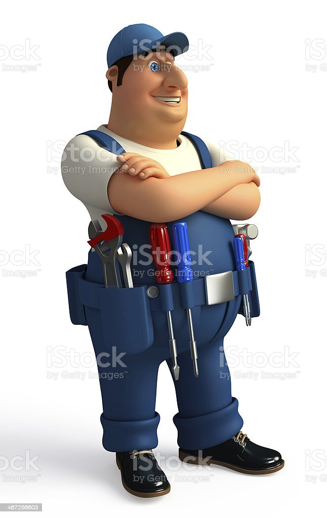 Young Mechanic royalty-free stock photo