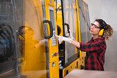 young mechanical engineer.