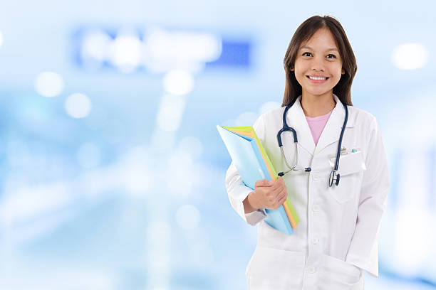 Young medical doctor woman. stock photo