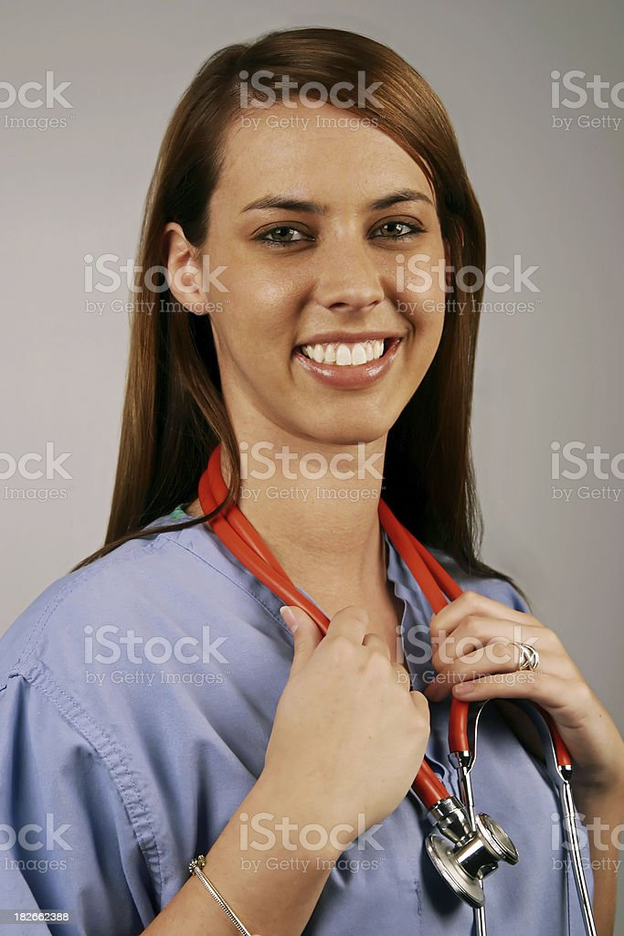 Young Medical Professional: Scrubs royalty-free stock photo