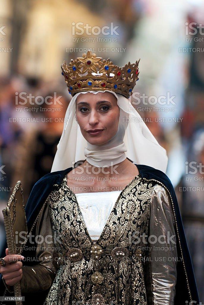 Young Medieval Princess royalty-free stock photo