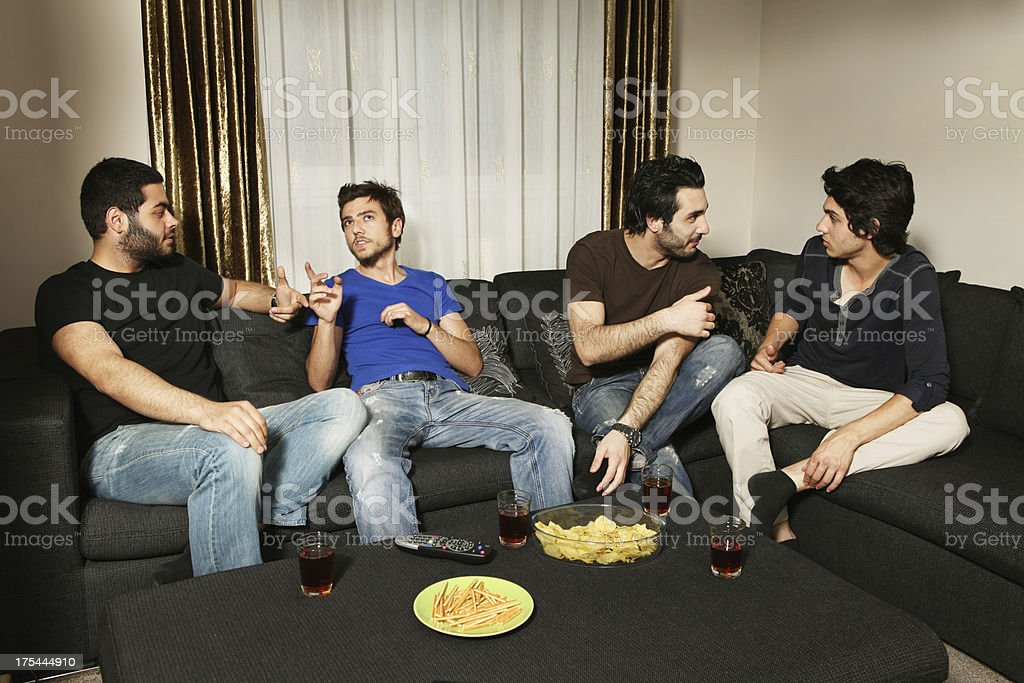young men having a nice evening royalty-free stock photo