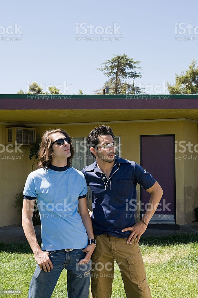 Young men in sunglasses 免版稅 stock photo