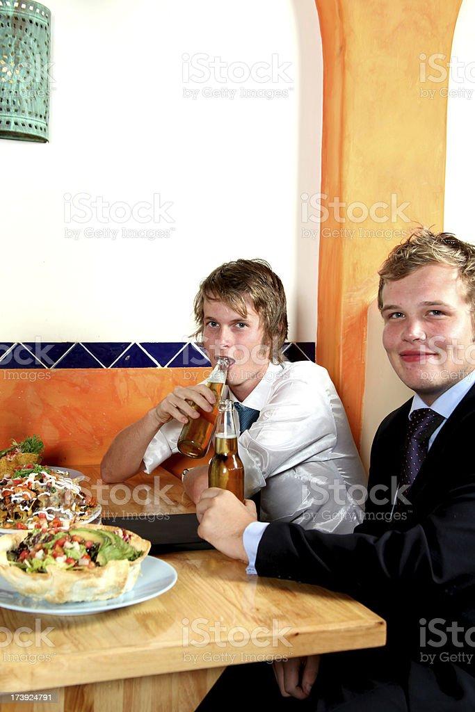 Young men stock photo