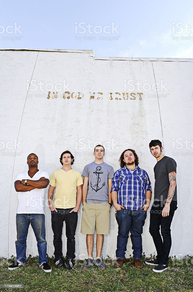 Young Men Trusting God stock photo