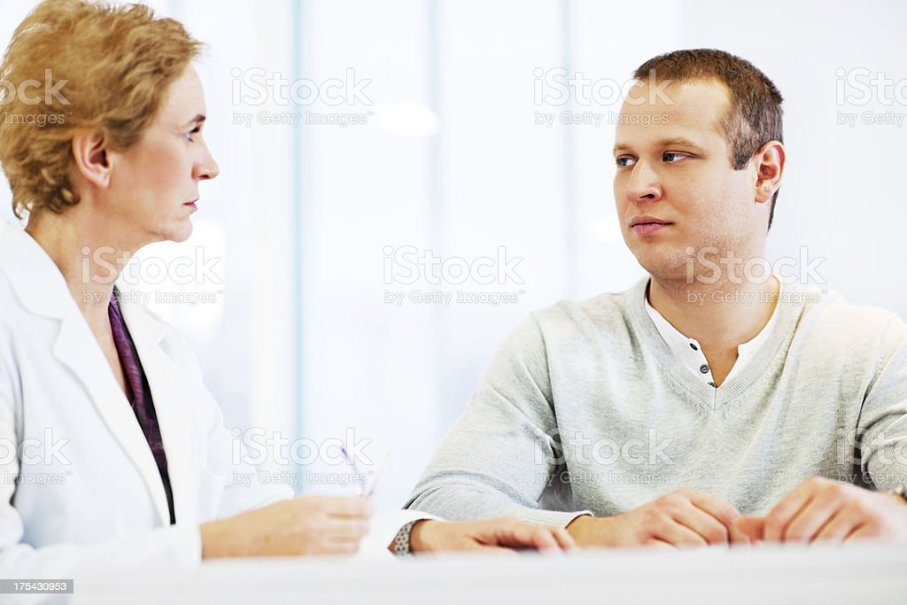 Young men visiting a psychologist. royalty-free stock photo